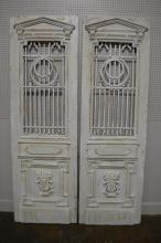 Pair of Painted Architectural Doors 93 1/4