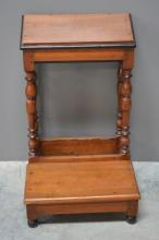 Early 19th C. French Kneeling Prayer Bench 34 1/4