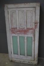 Painted Pa. One Door Cupboard 71 1/2