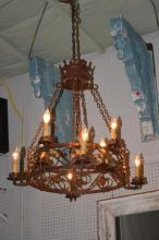 Wrought Iron French Chandelier 46