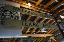 2pc. Sign Lot Texas Army, National Gaurd  --  wood