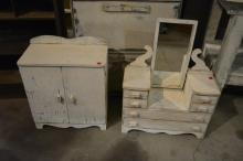 2pc. Lot- Childs Dresser, Wardrobe