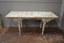 Painted Store Table SIZE- 30 1/2