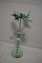 Airplane Weathervane on Stand 41 1/2
