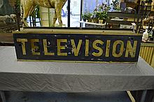 Old Neon Television Sign 13 1/2