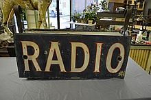 Neon Double Sided Radio Sign 15 1/4