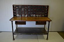 Industrial Work Counter with Drawer Unit 55 3/4