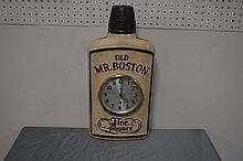 Old Mr. Boston Whiskey Adv. Clock