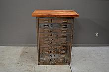 Industrial Stand with Drawers 38 1/4