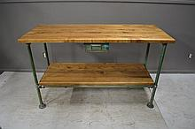 Industrial Work Table with Drawer 36 1/4
