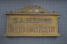 Early Pa. Trade Sign- Butter Eggs Poultry 20 3/4