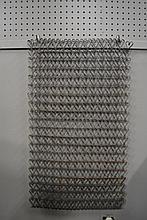 2pc. Wire Lot- Fireplace Screen, Door Mat Rug-- 31 x 18 Screen-- 25 1/2