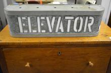 Lighted Elevator Sign