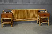 Mid-Century Modern Bamboo Headboard