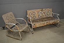 2pc. Lot - Glider and Lawn Chair