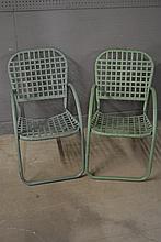 Green Metal Lawn Chair X-2