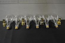 10pc. Lot light bulbs,  French candlesticks - Dansk Design