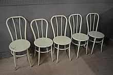 5pc. Green Metal Chair Lot