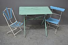 Child's Bistro Set table,  2 chairs