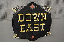 Down East Sign double sided
