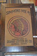 3 Piece Lot- 2 Framed Flour Sacks & Levi's Poster