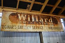 2 Piece Sign Lot- Willard Tires & Hardware Sign