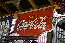 Coca-Cola Sign double sided,porcelain