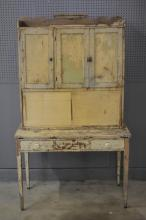 2pc. Painted Cupboard