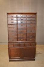 Oak Lawyer's Office Cabinet