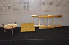 Group Lot: Brass Frames, Bible Stand, Etc.