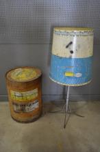 2-Piece Lot: tool display & general store barrel