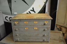 Painted Spool Cabinet