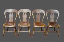 Early Pa. Balloon Back Chair X4 *Jean Hess Collection 33