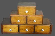 Early Graduated Drawer Unit *Jean Hess Collection 14 1/2