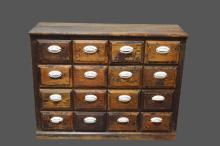16-Drawer Apothecary Drawer Unit 37