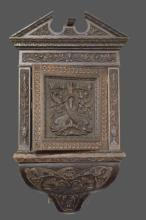 Late19th Cen. Carved French Hanging Corner Cabinet 37