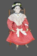 Mid-19th Cen. Greiner Doll w/ Early Child's Chair *Jean Hess Collection doll  -   31