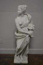 Chalk Garden Statue w/ Great Weathered Surface 55 1/4