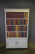 Italian Faux Bookcase Front Cupboard 69 1/2