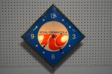 RC Cola Advertising Clock works 21 3/4