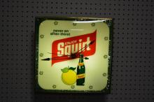 Squirt Advertising Clock works 15 1/4