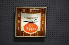 Dr. Pepper Advertising Clock works 15 1/4