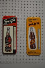 Advertising Thermometer X-2 Barqs, Dad's 25 1/2