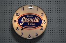 Grapette Advertising Clock works 15