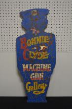 Bonnie & Clyde Carnival Shooting Target 35 1/2