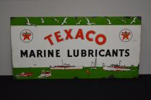 Texaco Marine Lubricants Sign porcelain 15