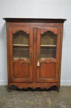 Early Country French 2-door Cupboard w/key 77