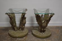 Movie Prop Table w/ Eagles from Universal Studio X2 29 1/2