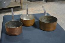 Early Copper Pan X3