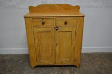 Painted Pa. Jelly Cupboard w/ Original Key 52 1/2